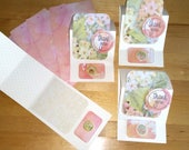 Thank You, Card, 3-D, Easel, Stand Up, Pretty, Pastel, Set of 4, 3D