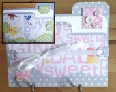Baby Girl, Baby Boy, Baby, Handmade, File Folder, Card, Blue, Pink, Congratulations