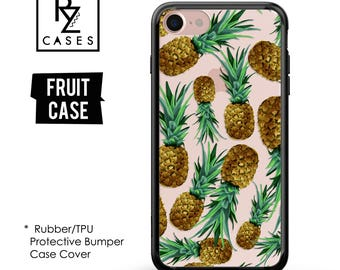Pineapple Phone Case, Pineapple Case, Fruit Phone Case, iPhone 7 Case, iPhone 6 Case, iPhone 7 Plus Case, Rubber Case, Bumper Case