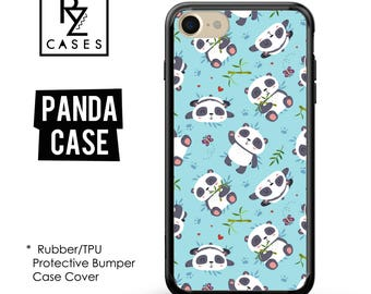 Panda Phone Case, Cute Phone Case, Panda iPhone Case, iPhone 7, Animal, Gift for Her, iPhone 7 Plus, iPhone 6S, Rubber Case, Bumper