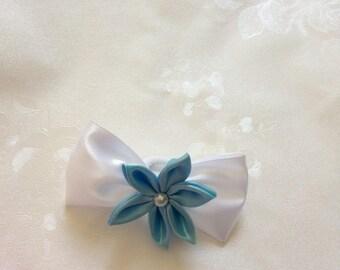 """hair bow """"blue cloud"""""""