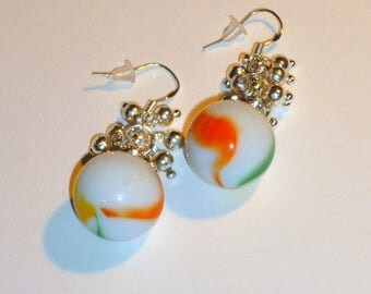 925 Silver earrings and beads to play original gift idea