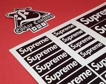 Supreme Logo Stencil