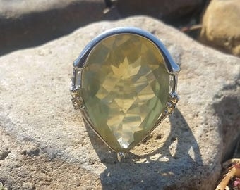 Lemon Citrine Ring
