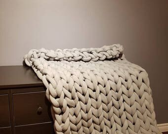 Crochet cotton blanket