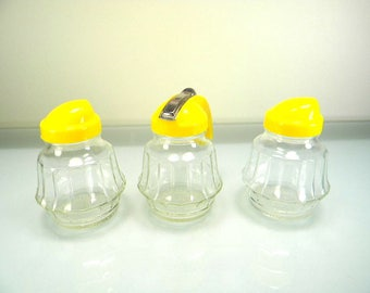 Vintage Hazel Atlas Salt, Pepper, & Honey/Syrup Dispenser