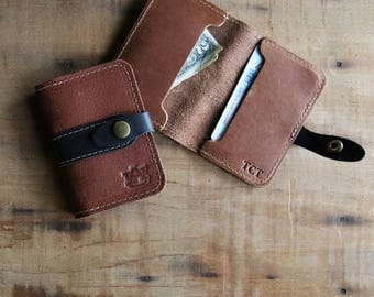 The Officially Licensed Auburn Doolittle Fine Leather Snap Closure Wallet BiFold
