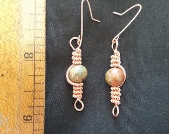 Brass Wire Twist Earrings