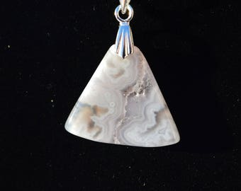 Moroccan Ghost Agate Necklace for Women, A Gift for Her, Ghost Agate Pendant