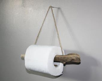 Drift wood toilet paper dispenser