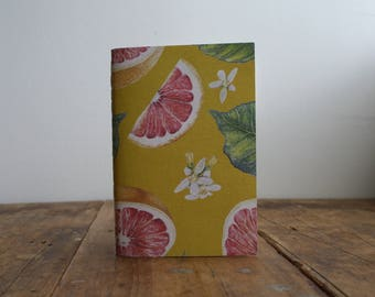 Hand-bound A6 Notebook - Grapefruit