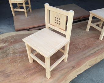 Wood chairs (nine)