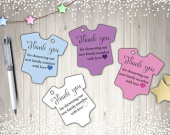 Thank You Tags, Baby Shower Tags, Printable Tags