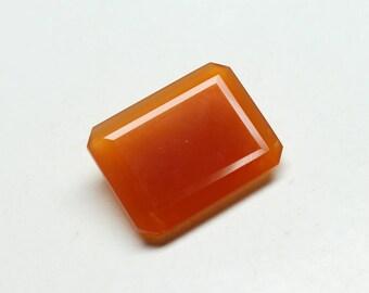 Huge Natural Carnelian Faceted Octagon Gemstone Shape- Octagon size-18X24X7 MM 1 PCs gemstone Carnelian Octagon.