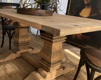 Trestle dining table | Etsy