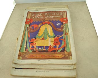 The Etude Magazine of 1929 - Quantity of 3