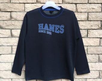 vintage!!! HANES sweatshirt spellout big logo... vintage sweatshirt .. 'HANES SINCE 1901'