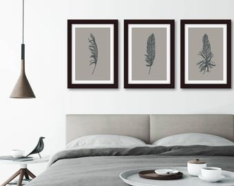 3 feathers etsy for Minimalist gifts for housewarming