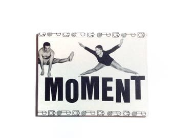 Large Retro Magnet OOAK Magnet 'Moment - Jump!' Fitness Room Decor Fun Magnet Jumping Exercise Fitness Teacher Gift - Magnet No FR-04