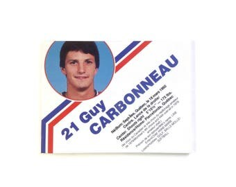 OOAK Fridge Magnet 'Guy Carbonneau' Montreal Canadiens Magnet Montreal Habs Collectible Hockey Player Gift Mtl Souvenir Sports Gift No QC-26