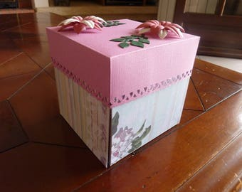 Example pink explosion box for your photos