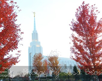 Twin Falls Idaho Temple in the Fall Picture