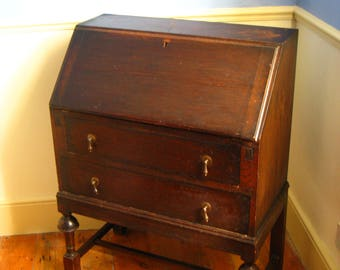 1930s vintage bureau - COLLECTION ONLY
