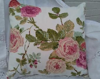 Housse de coussin 5050 cm motif fleuri vintage style anglais for Housse de coussin anglais