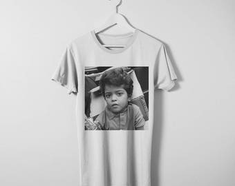 Bruno Mars T-shirt. Available in both men's and women's sizes. Printed on comfy cotton Bella Canvas T-shirt.
