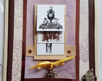 Victorian themed waterfall card