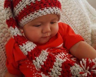 Santa's Helper Hat. Christmas hat for babies 6-12 Months.