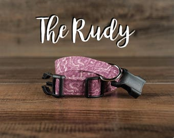 The Rudy - Fabric Dog Collar - Adjustable Collar - Custom Fabric