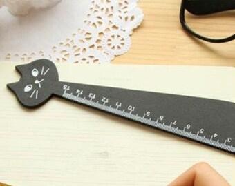 Black Cat wooden 15cm ruler