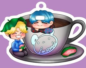 """BTS Yoonmin - Coffee & Mochi Boys 3"""" Clear Acrylic Keychain"""