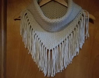 Fringed Cowl Collar