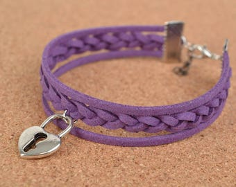 violet bracelet\gift for her\friendship bracelet\rope bracelet\woven bracelet\mother's day gift