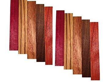 10 Pack of Variety Pen Blanks-Zebrawood,Purpleheart,Padauk,Walnut,Sapele