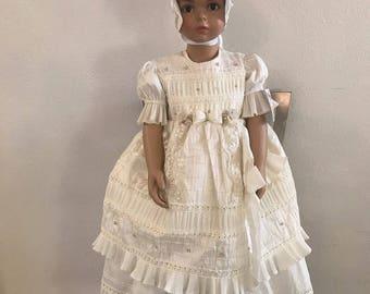 Baptism gown  Ropon de niña
