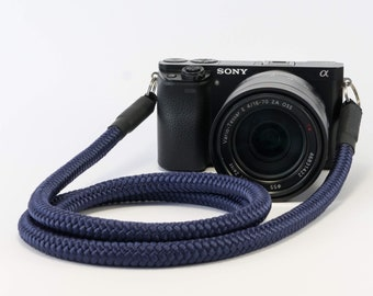 Handmade Shoulderstrap for DSLR blue-present-accessoires-style Camerastrap-Christmaspresent for him-Christmaspresent for her
