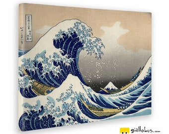 Canvas Prints Canvas-Hokusai-The Great Wave of Kanagawa-Yellow BUS