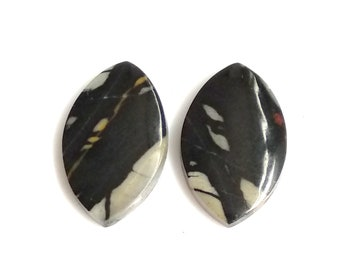Picasso Jasper Marquise Pair Cabochon,Size- 23x14 ,MM,Natural Picasso Jasper, AAA,Quality  Loose Gemstone, Smooth Cabochons.