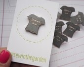 Grey sewing club enamel pin badge - sewing seamstress sewer enamel pin brooch
