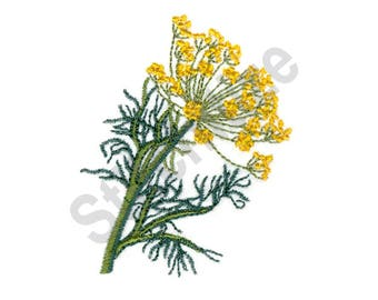 Dill Plant - Machine Embroidery Design, Plant, Dill, Flowers