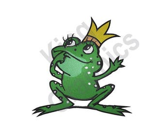 Frog Prince - Machine Embroidery Design