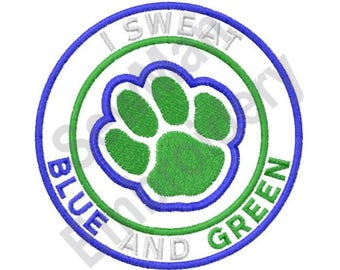 Blue And Green - Machine Embroidery Design