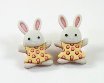 Rabbit studs, Rabbit earrings, Cute bunny earrings, Cute bunny studs, Bunny studs