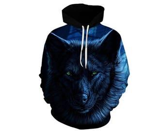 Wolf Hoodie, Wolf, Wolf Hoodies, Animal Prints, Animal Hoodie, Animal Hoodies, Wolves, Hoodie Wolf, Hoodie, 3d Hoodie, 3d Hoodies - Style 30