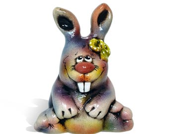"Hare. Ceramic figurine ""Rabbit"". Ceramic handmade figurine. Wonderful figurine handmade, made and painted by hand."