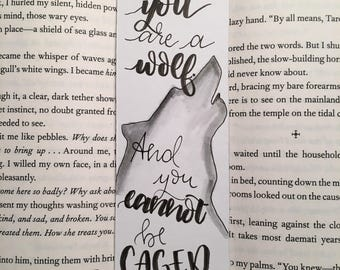 ACOMAF Wolf Quote Bookmark