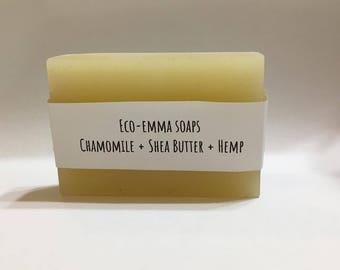Chamomile and Shea Butter Hemp Oil Soap